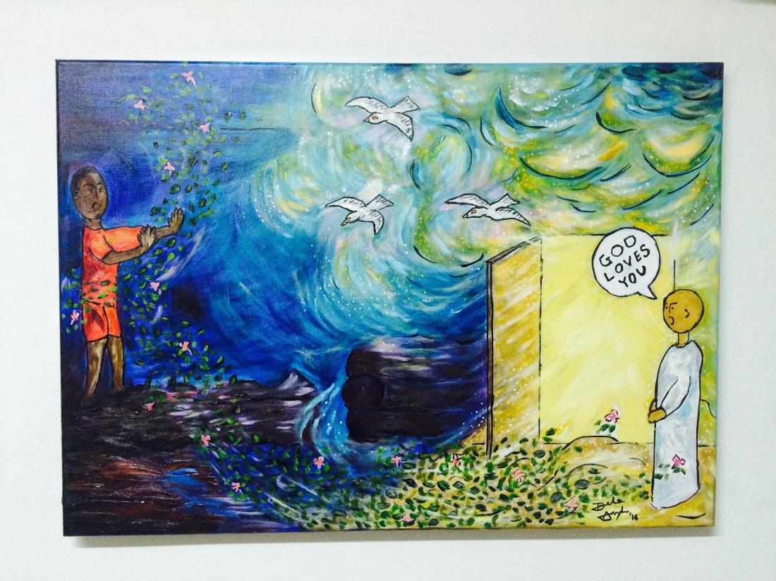 God love you: Acrylic on Canvas (2015)
