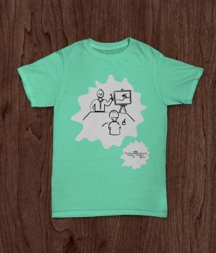 TShirt Creative minds mint green
